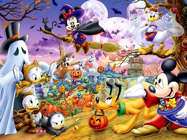 Halloween Disney Party Wallpaper - A wallpaper of Disney Halloween party with amusing costumes of ghosts, vampires and monsters. - , Halloween, Disney, party, parties, wallpaper, wallpapers, holidays, holiday, party, parties, feast, feasts, festival, festivals, festivity, festivities, amusing, costumes, costume, ghosts, ghost, vampires, vampire, s - A wallpaper of Disney Halloween party with amusing costumes of ghosts, vampires and monsters. Solve free online Halloween Disney Party Wallpaper puzzle games or send Halloween Disney Party Wallpaper puzzle game greeting ecards  from puzzles-games.eu.. Halloween Disney Party Wallpaper puzzle, puzzles, puzzles games, puzzles-games.eu, puzzle games, online puzzle games, free puzzle games, free online puzzle games, Halloween Disney Party Wallpaper free puzzle game, Halloween Disney Party Wallpaper online puzzle game, jigsaw puzzles, Halloween Disney Party Wallpaper jigsaw puzzle, jigsaw puzzle games, jigsaw puzzles games, Halloween Disney Party Wallpaper puzzle game ecard, puzzles games ecards, Halloween Disney Party Wallpaper puzzle game greeting ecard
