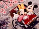 Disney Spring Minnie and Mickey Mouse in Japan Wallpaper