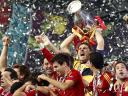 Euro 2012 Final Iker Casillas with Trophy
