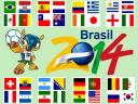 2014 FIFA World Cup Flags of Teams in Groups Wallpaper