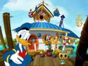 Disney Summer Donald Duck and Daisy on Boat House Wallpaper