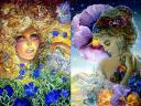 Periwinkle and Pansy by Josephine Wall