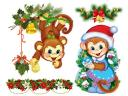 Year of Fire Monkey Greetings Card